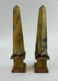 Pair of 18th C. French Marble Obelisks : Lot 3 https://www.liveauctioneers.com/catalog_gallery/83465