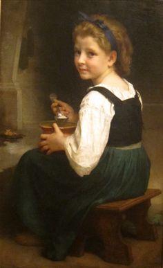 'Girl Eating Porridge' by William Adolphe Bouguereau