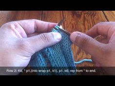 How To Knit The Open-Work Ladder Stitch - YouTube