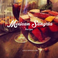 Add a little Mexican flare to the holiday season.  Mexican Sangria Recipe  1 bottle of red wine  1 cup of tequila (Don Julio Reposada is a great choice)  1/2 cup orange juice  1/2 cup cane sugar  1/4 cup fresh squeezed lime juice  Sliced apple and other fruit of your choice – raspberries, watermelon, oranges, strawberries   Mix all the ingredients together in a large glass jug or punch bowl. Stir well and let sit for an hour. Add ice and serve!