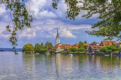 Church in Berlingen, Thurgau, Switzerland by Elenarts - Elena Duvernay photo Places In Switzerland, Camping Car, Famous Places, Art For Sale, Travel Photos, Fine Art America, Europe, Wall Art, Beautiful