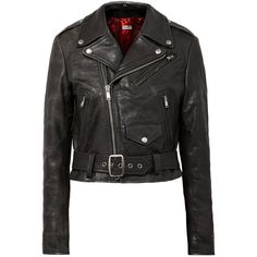 RE/DONE Reconstructed Moto Racer distressed leather biker jacket found on Polyvore featuring outerwear, jackets, vintage motorcycle jacket, asymmetrical zip moto jacket, moto jacket, cropped jacket and vintage jackets