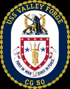 Ship Crest. Navy Insignia, Military Insignia, Ticonderoga Class, Navy Reserve, Army Patches, Go Navy, Valley Forge, Emblem, Fantasy Armor