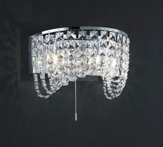 #TRIO Life style Kinkiet Geneve 218070306 : Kinkiety z kryształami : #Sklep_internetowy #Elektromag