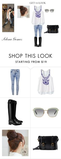 """""""Celebrity Impression #22"""" by i-love-tennis ❤ liked on Polyvore featuring ONLY, Tory Burch, Miu Miu, Pin Show, Dr. Martens, GetTheLook and airportstyle"""