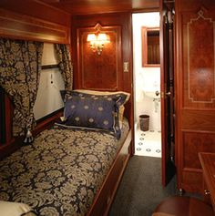 World's Fanciest Sleeper Cars...bucket list - own a train, or at least, train car. ;-)