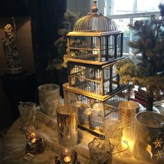 Calming Christmas decor ideas in our Stockbridge showroom. Come in and speak to our designers for Christmas decor advice!