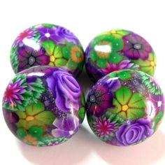 Polymer clay beads @ www.etsy.com/...