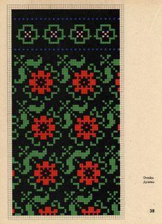 Gallery.ru / Фото #27 - Латышские орнаменты - romashkaroma Fair Isle Knitting Patterns, Knitting Machine Patterns, Knitting Charts, Knitting Stitches, Simple Cross Stitch, Cross Stitch Flowers, Cross Stitch Charts, Cross Stitch Patterns, Mittens Pattern