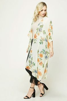Product Name:Contemporary Floral Kimono, Category:CLEARANCE_ZERO, Price:15.9