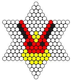 Tiny Flareon Perler Bead Pattern / Bead Sprite