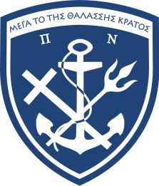 "The motto of the Hellenic Navy is ""Μέγα το της Θαλάσσης Κράτος"" . This has been roughly translated as ""Great is the country that controls the sea"". The Hellenic Navy's emblem consists of an anchor in front of a crossed Christian cross and trident, with the cross symbolizing Greek Orthodoxy, and the trident symbolizing Poseidon, the god of the sea in Greek mythology. Pericles' words are written across the top of the emblem."