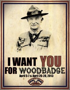 Woodbadge poster I made