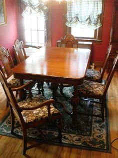 Custom Dining Room Table Pads Adorable Antique Dining Room Set For Sale  $900 Millington Nj  Dining Design Ideas