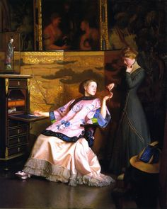 William McGregor Paxton - The New Necklace