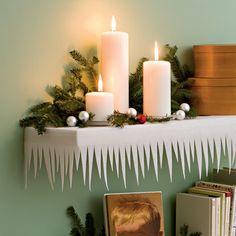 DIY Shimmering, SPARKLING Shelfsicles  made from WHITE FELT!! LOVE it!!