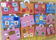 made by preescholers! Bags for art!