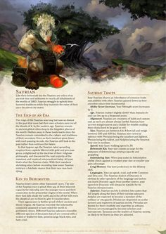 Homebrewing class DnD Homebrew Saurian Race by coolgamertagbro / Sterling Vermin Dungeons And Dragons Races, Dungeons And Dragons Homebrew, Fantasy Races, Fantasy Rpg, Dnd Classes, Dnd 5e Homebrew, Dragon Rpg, Pathfinder Rpg, Dragon Party