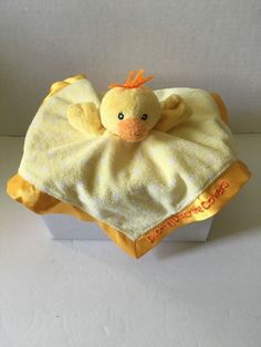 Russ Baby Lovey Ducking Under The Covers Yellow Polka Security Blanket Sunshine #RussBerrie
