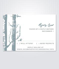 93 best DIY Wedding RSVP & Enclosure Card Templates images on ...