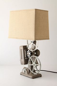 Lamp with 8mm video design elements. Love it. Would probably change the shade though. $598.