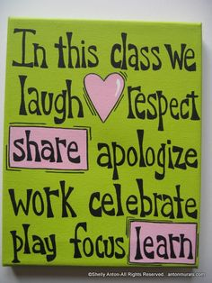 In this class Sign Painted Canvas Teacher by PromotingSuccess, $19.95