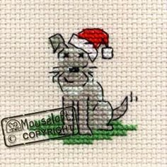 Mouseloft Stitchlet Cross Stitch Card KitLittle Dogs Christmas: Amazon.co.uk: Toys & Games