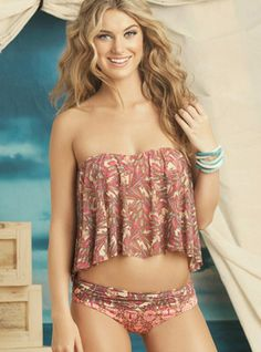 Sparkling Waves Bandeau Two Piece