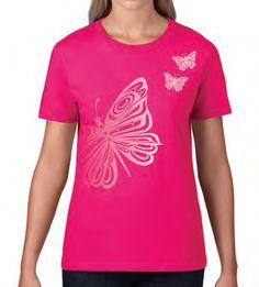 Ladies T-Shirt - Butterflies
