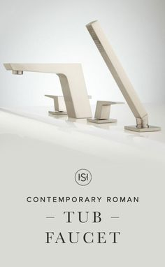 Give your bathroom a much-needed facelift with this stunning faucet from Signature Hardware. The angled spout and handles give the Cheval Roman Tub Faucet a sleek and contemporary design that is sure to impress.