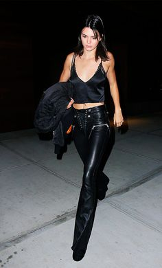 kendall jenner em look all black