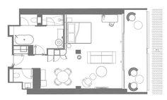 La planimetria delle quattro camere da letto suite fornita dal ...