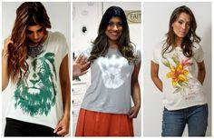Inspiração: looks com t-shirt – Irmãs Reis