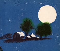 my vintage book collection (in blog form).: Look at the Moon - illustrated by Leonard Weisgard