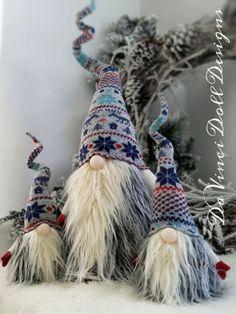 36-034-alto-hecho-a-mano-Nisse-sueco-Tomte-Nordico-Navidad-Santa-Elf-Decoracion-GNOME