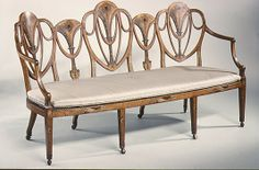 Triple-back chair settee Triple-back chair settee Date: 1785  English   Maker unknown Medium: West Indian satinwood