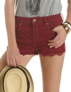 I BOUGHT THEM! TOO CUTE dollhouse crochet-front short.