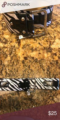 Zelbra Belt White House Black Market zebra print belt size large. Never worn tag still attached. White House Black Market Accessories Belts