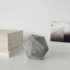 DesignSponge DIY Geometric Concerete Paperweight