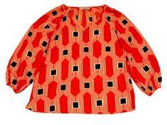 My Island Home - Blouson Sleeve Top - pavillions red