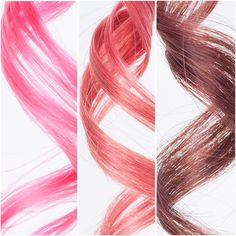 Today calls for some pink.  Swatches, from left to right:  Vibrant Pink on platinum blonde Vibrant Pink on medium blonde Vibrant Pink on medium brown  All strand tests were swatched for five minutes with one application of Vibrant Pink Daily Conditioner on damp hair, then rinsed with hot water.  Want to add some pink to your life? Vibrant Pink conditioners are in stock now at oVertone.co.