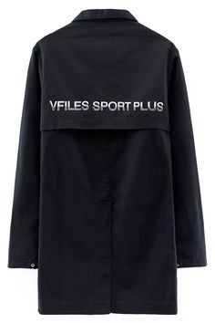 VFILES SPORT PLUS BLACK LAB COAT Black cotton lab coat featuring VFILES SPORT PLUS+ logo on back, three front pockets, and button closures. 65% polyester, 35% cotton twill. SIZE & FIT Fits true to size. Chynna is 5'10'' (178 cm) tall, and is wearing a size S. Tyler is 6'1'' (185 cm), and is wearing a size S. VFILES SPORT PLUS The in-house, cut-and-sew line of fashion-forward sportswear from VFILES, borne out of demand for a brand that embodies our reach across music, art, fashion, design…