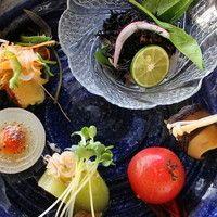 茶倉 - 野菜三昧ランチの前菜。堺・泉州の旬野菜をたっぷり使っています。