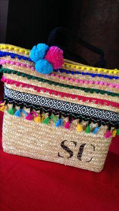 Bolsa de palha customizada by @graffaria