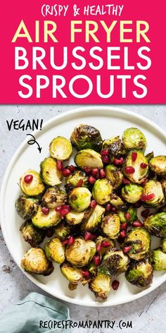 You've never had Brussels sprouts like these! Crispy Air Fryer Brussels Sprouts make a great side dish or snack - crispy on the outside and tender on the inside. Air Fryer Dinner Recipes, Air Fryer Recipes, Lunch Recipes, Appetizer Recipes, Healthy Recipes, Keto Recipes, Healthy Eats, Salad Recipes, Vegetarian Recipes