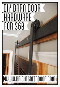 DIY Affordable Barn Door Hardware www.BrightGreenDoor.com