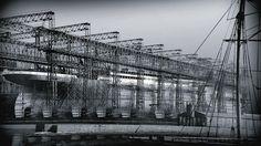 #andamios en la construcción del Titanic 1909 - 1912