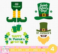 St Patrick's Day Designs SVG, DXF, EPS, png Files for Cutting Machines Cameo or Cricut - St Paddys Day svg, Irish svg, Lucky svg Leprechaun by VectorsForAll on Etsy