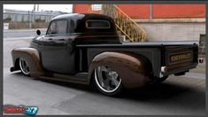 A nod to the classics, this custom truck features a brilliant orange paint job and enough custom work that it maybe doesnt qualify as a true classic, though the original lines and look are beautiful. Description from pinterest.com. I searched for this on bing.com/images
