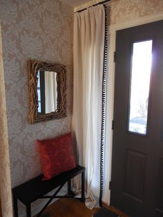 How To Make Modern Curtains For Sidelight Windows For